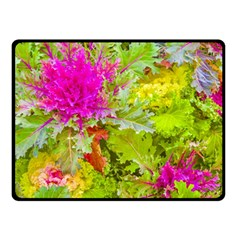 Colored Plants Photo Double Sided Fleece Blanket (small)