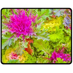 Colored Plants Photo Double Sided Fleece Blanket (medium)