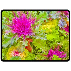 Colored Plants Photo Double Sided Fleece Blanket (large)