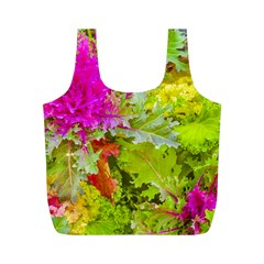Colored Plants Photo Full Print Recycle Bags (m)
