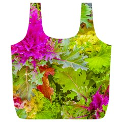 Colored Plants Photo Full Print Recycle Bags (l)