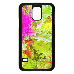 Colored Plants Photo Samsung Galaxy S5 Case (black)