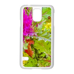 Colored Plants Photo Samsung Galaxy S5 Case (white)