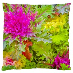 Colored Plants Photo Large Flano Cushion Case (one Side)