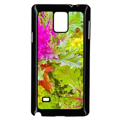 Colored Plants Photo Samsung Galaxy Note 4 Case (black)