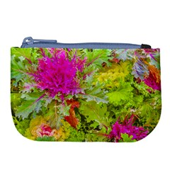 Colored Plants Photo Large Coin Purse