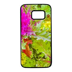 Colored Plants Photo Samsung Galaxy S7 Black Seamless Case