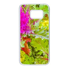 Colored Plants Photo Samsung Galaxy S7 White Seamless Case
