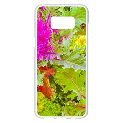 Colored Plants Photo Samsung Galaxy S8 Plus White Seamless Case