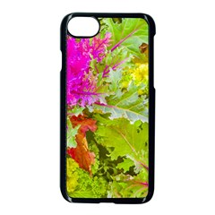 Colored Plants Photo Apple Iphone 8 Seamless Case (black)