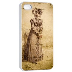 Lady 2507645 960 720 Apple Iphone 4/4s Seamless Case (white)
