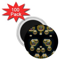 Bats In Caves In Spring Time 1 75  Magnets (100 Pack)