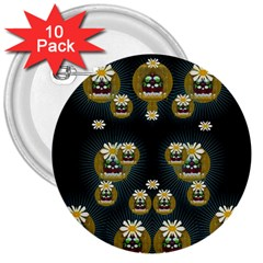 Bats In Caves In Spring Time 3  Buttons (10 Pack)