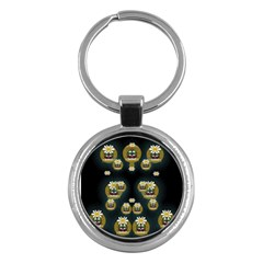 Bats In Caves In Spring Time Key Chains (round)