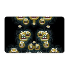 Bats In Caves In Spring Time Magnet (rectangular)