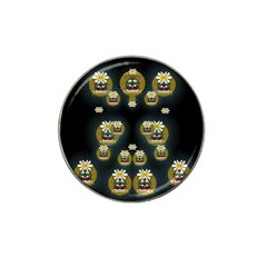 Bats In Caves In Spring Time Hat Clip Ball Marker (4 Pack)