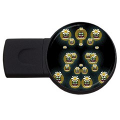 Bats In Caves In Spring Time Usb Flash Drive Round (4 Gb)