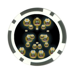 Bats In Caves In Spring Time Poker Chip Card Guard