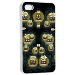 Bats In Caves In Spring Time Apple Iphone 4/4s Seamless Case (white)
