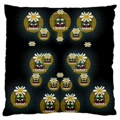 Bats In Caves In Spring Time Large Cushion Case (two Sides)