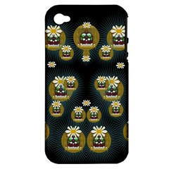 Bats In Caves In Spring Time Apple Iphone 4/4s Hardshell Case (pc+silicone)