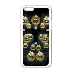 Bats In Caves In Spring Time Apple Iphone 6/6s White Enamel Case