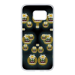 Bats In Caves In Spring Time Samsung Galaxy S7 Edge White Seamless Case