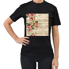 On Wood 2226067 1920 Women s T Shirt (black) (two Sided)