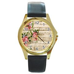 On Wood 2226067 1920 Round Gold Metal Watch