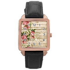On Wood 2226067 1920 Rose Gold Leather Watch