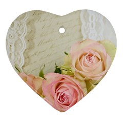 Roses 2218680 960 720 Heart Ornament (two Sides)