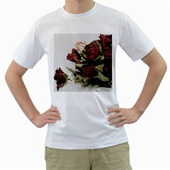 Roses 1802790 960 720 Men s T Shirt (white) (two Sided)