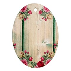 Roses 1944106 960 720 Oval Ornament (two Sides)