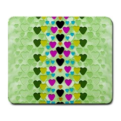 Summer Time In Lovely Hearts Large Mousepads