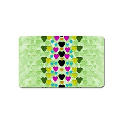 Summer Time In Lovely Hearts Magnet (name Card)