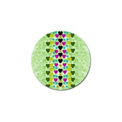 Summer Time In Lovely Hearts Golf Ball Marker