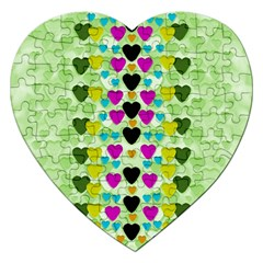 Summer Time In Lovely Hearts Jigsaw Puzzle (heart)