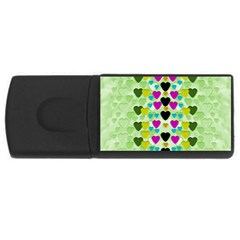 Summer Time In Lovely Hearts Rectangular Usb Flash Drive
