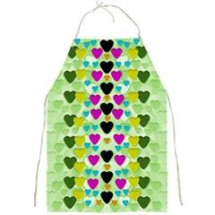 Summer Time In Lovely Hearts Full Print Aprons