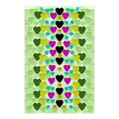 Summer Time In Lovely Hearts Shower Curtain 48  X 72  (small)