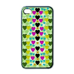 Summer Time In Lovely Hearts Apple Iphone 4 Case (black)