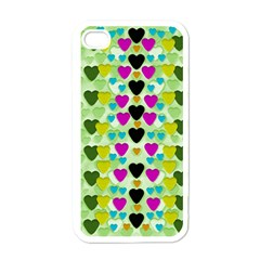 Summer Time In Lovely Hearts Apple Iphone 4 Case (white)