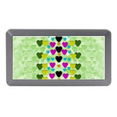 Summer Time In Lovely Hearts Memory Card Reader (mini)