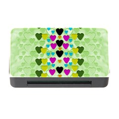 Summer Time In Lovely Hearts Memory Card Reader With Cf