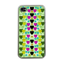 Summer Time In Lovely Hearts Apple Iphone 4 Case (clear)