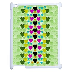 Summer Time In Lovely Hearts Apple Ipad 2 Case (white)