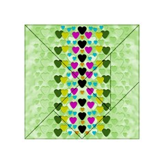 Summer Time In Lovely Hearts Acrylic Tangram Puzzle (4  X 4 )