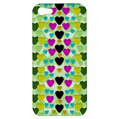 Summer Time In Lovely Hearts Apple Iphone 5 Hardshell Case