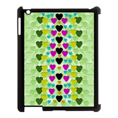 Summer Time In Lovely Hearts Apple Ipad 3/4 Case (black)