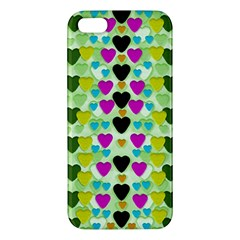Summer Time In Lovely Hearts Apple Iphone 5 Premium Hardshell Case